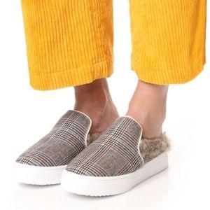 Sam Edelman Levonne Plaid Fur Lined Slide Sneakers